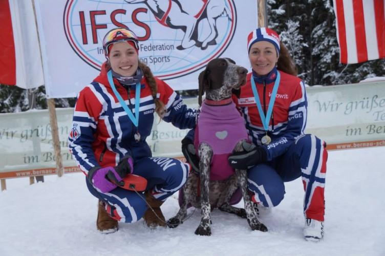 Solveig Kristianse Aaseby - Welmeisterin 2015 in der Kombination (Skijöring/Pulka)